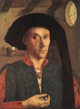 Petrus Christus : Portrait Of Edward Grimston